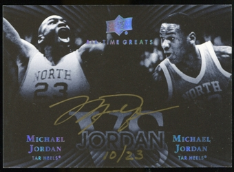 2013 Upper Deck All-Time Greats Jordan Vs. Signatures #JVSJO Michael Jordan 10/23