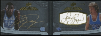 2012/13 Upper Deck Exquisite Collection UD Black Leather Autographs Dual #JB Michael Jordan Larry Bird 30/40