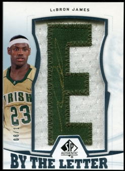 2013/14 Upper Deck SP Authentic By the Letter Signatures #BLLJ LeBron James 'E' 8/10