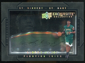 2011/12 Upper Deck Exquisite Collection Dimensions Autographs #DJA LeBron James
