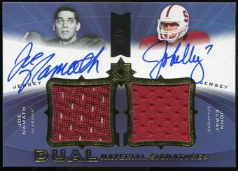 2013 Ultimate Collection Ultimate Signatures Jerseys Duals #SJ2EN Joe Namath John Elway