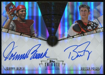 2013 Topps Tribute Timeless Tribute Autographs #BP Johnny Bench Buster Posey 8/24