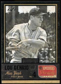 2013 Panini America's Pastime Black #165 Lou Gehrig 1/1
