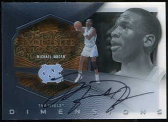 2012/13 Upper Deck Exquisite Collection Dimensions Autographs #MI Michael Jordan SP/70
