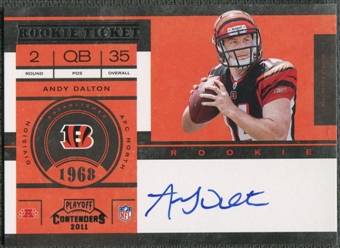 2011 Playoff Contenders #225A Andy Dalton Rookie Auto