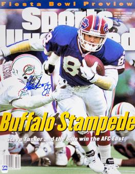 Steve Tasker Autographed Buffalo Bills 11x14 SI Photo