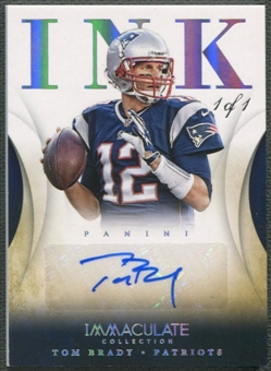 2014 Immaculate Collection #2 Tom Brady Ink Platinum Auto #1/1