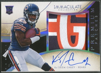 2014 Immaculate Collection #PRKC Ka'Deem Carey Rookie Premium Platinum Patch Auto #1/1