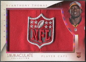 2014 Immaculate Collection #21 De'Anthony Thomas Rookie Player Caps NFL Shield #1/3