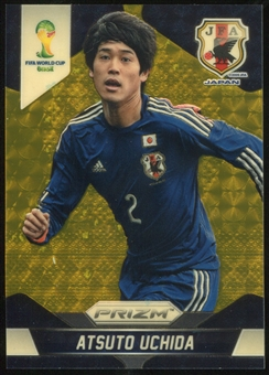 2014 Panini Prizm World Cup Prizms Gold Power #195 Atsuto Uchida 4/5