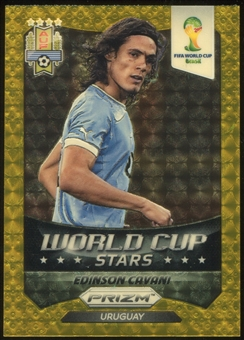 2014 Panini Prizm World Cup World Cup Stars Prizms Gold Power #36 Edinson Cavani 1/5