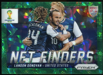 2014 Panini Prizm World Cup Net Finders Prizms Green Crystal #25 Landon Donovan 21/25