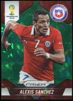 2014 Panini Prizm World Cup Prizms Green Crystal #45 Alexis Sanchez 4/25