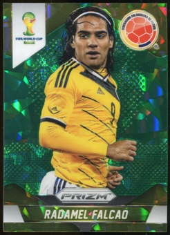 2014 Panini Prizm World Cup Prizms Green Crystal #53 Radamel Falcao 12/25