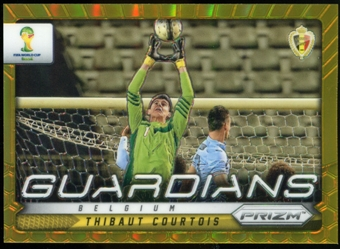2014 Panini Prizm World Cup Guardians Prizms Gold #3 Thibaut Courtois 3/10