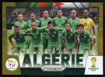 2014 Panini Prizm World Cup Team Photos Prizms Gold #1 Algeria 6/10