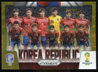 2014 Panini Prizm World Cup Team Photos Prizms Gold #24 Korea Republic 6/10