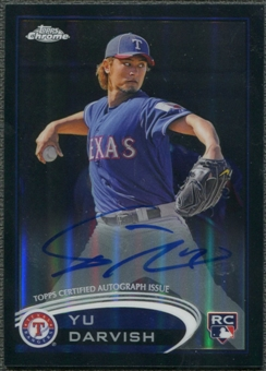 2012 Topps Chrome #151 Yu Darvish Black Refractor Rookie Auto #024/100