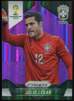 2014 Panini Prizm World Cup Prizms Purple #104 Julio Cesar /99