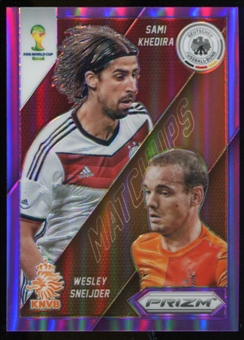 2014 Panini Prizm World Cup World Cup Matchups Prizms Purple #27 Sami Khedira Wesley Sneijder /99