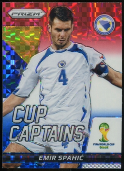 2014 Panini Prizm World Cup Cup Captains Prizms Red White and Blue #9 Emir Spahic