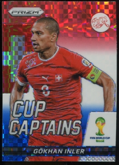 2014 Panini Prizm World Cup Cup Captains Prizms Red White and Blue #12 Gokhan Inler