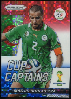 2014 Panini Prizm World Cup Cup Captains Prizms Red White and Blue #20 Madjid Bougherra