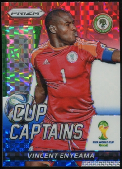 2014 Panini Prizm World Cup Cup Captains Prizms Red White and Blue #29 Vincent Enyeama