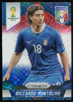 2014 Panini Prizm World Cup Prizms Red White and Blue #129 Riccardo Montolivo