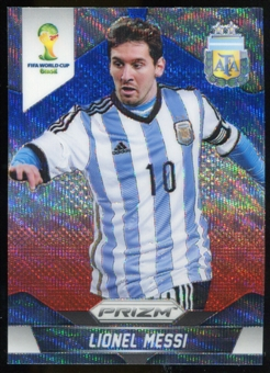2014 Panini Prizm World Cup Prizms Blue and Red Wave #12 Lionel Messi