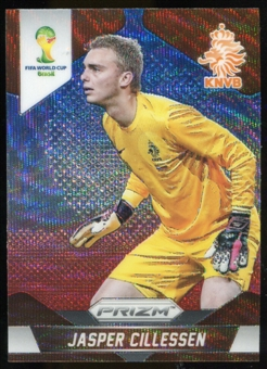 2014 Panini Prizm World Cup Prizms Blue and Red Wave #27 Jasper Cillessen