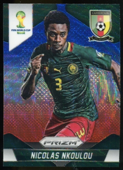 2014 Panini Prizm World Cup Prizms Blue and Red Wave #37 Nicolas Nkoulou