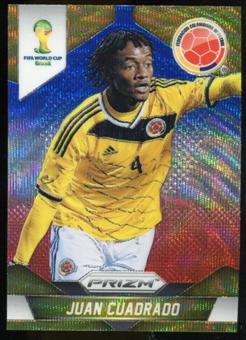 2014 Panini Prizm World Cup Prizms Blue and Red Wave #51 Juan Cuadrado