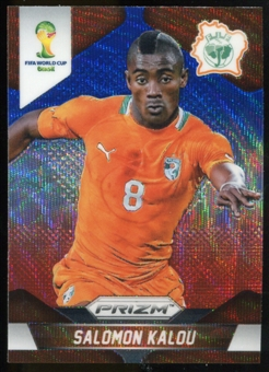 2014 Panini Prizm World Cup Prizms Blue and Red Wave #61 Salomon Kalou