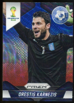2014 Panini Prizm World Cup Prizms Blue and Red Wave #99 Orestis Karnezis