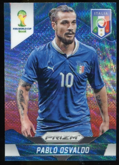 2014 Panini Prizm World Cup Prizms Blue and Red Wave #133 Pablo Osvaldo