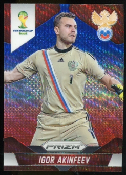 2014 Panini Prizm World Cup Prizms Blue and Red Wave #162 Igor Akinfeev