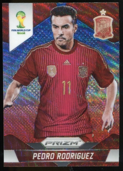 2014 Panini Prizm World Cup Prizms Blue and Red Wave #179 Pedro Rodriguez