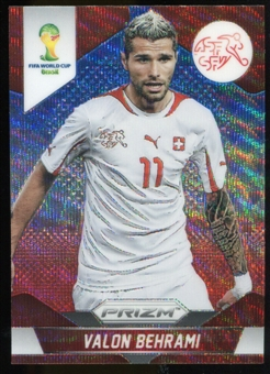 2014 Panini Prizm World Cup Prizms Blue and Red Wave #187 Valon Behrami