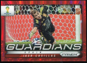 2014 Panini Prizm World Cup Guardians Prizms Red #21 Iker Casillas /149