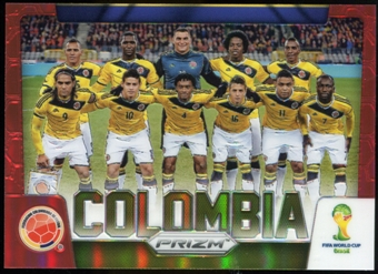2014 Panini Prizm World Cup Team Photos Prizms Red #9 Colombia /149