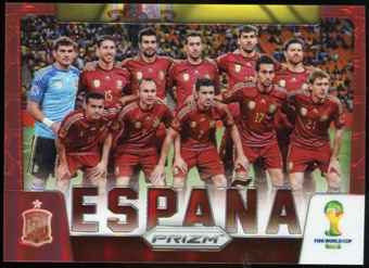 2014 Panini Prizm World Cup Team Photos Prizms Red #29 Espana /149