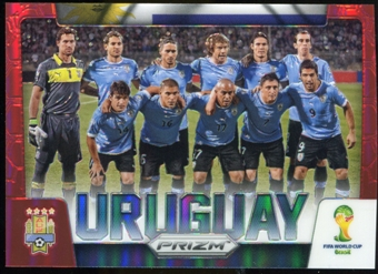 2014 Panini Prizm World Cup Team Photos Prizms Red #31 Uruguay /149