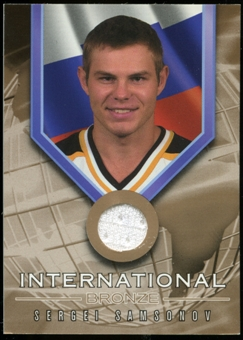 2001/02 BAP Signature Series International Medals Jersey #IB2 Sergei Samsonov