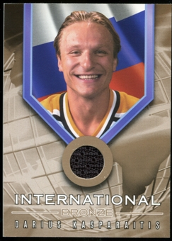2001/02 BAP Signature Series International Medals Jersey #IB3 Darius Kasparaitis