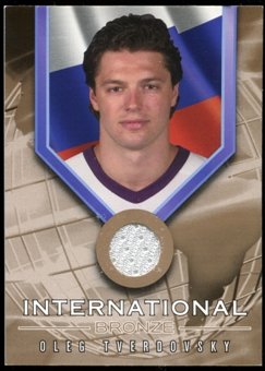 2001/02 BAP Signature Series International Medals Jersey #IB5 Oleg Tverdovsky