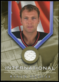 2001/02 BAP Signature Series International Medals Jersey #IG1 Martin Brodeur