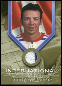 2001/02 BAP Signature Series International Medals Jersey #IG4 Theo Fleury
