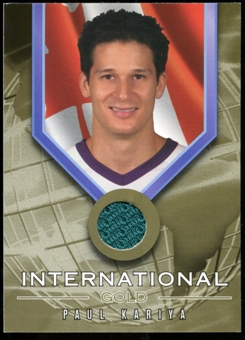 2001/02 BAP Signature Series International Medals Jersey #IG5 Paul Kariya