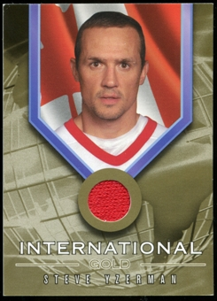 2001/02 BAP Signature Series International Medals Jersey #IG8 Steve Yzerman